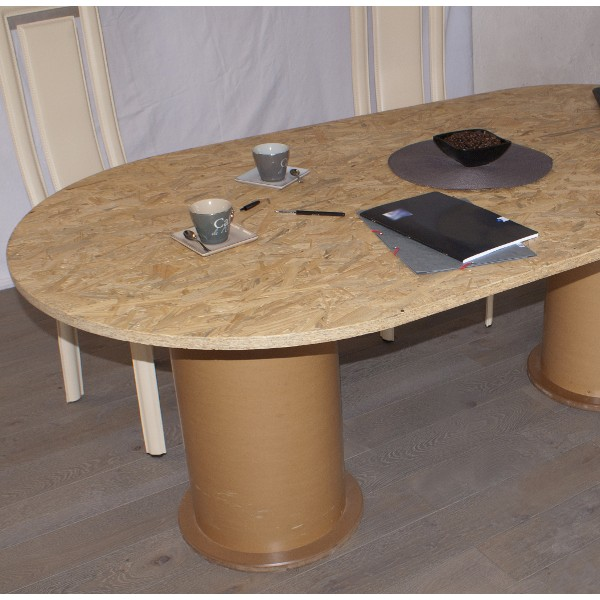 table 2 pieds design contemporain finition osb mat